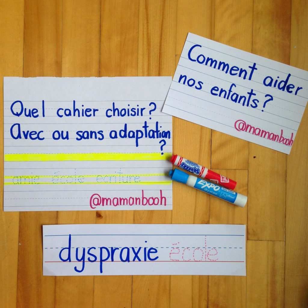 dyspraxie écriture Julie Philippon