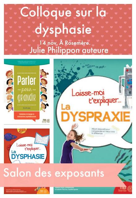colloque dysphasie Laurentides 14 nov Julie Philippon