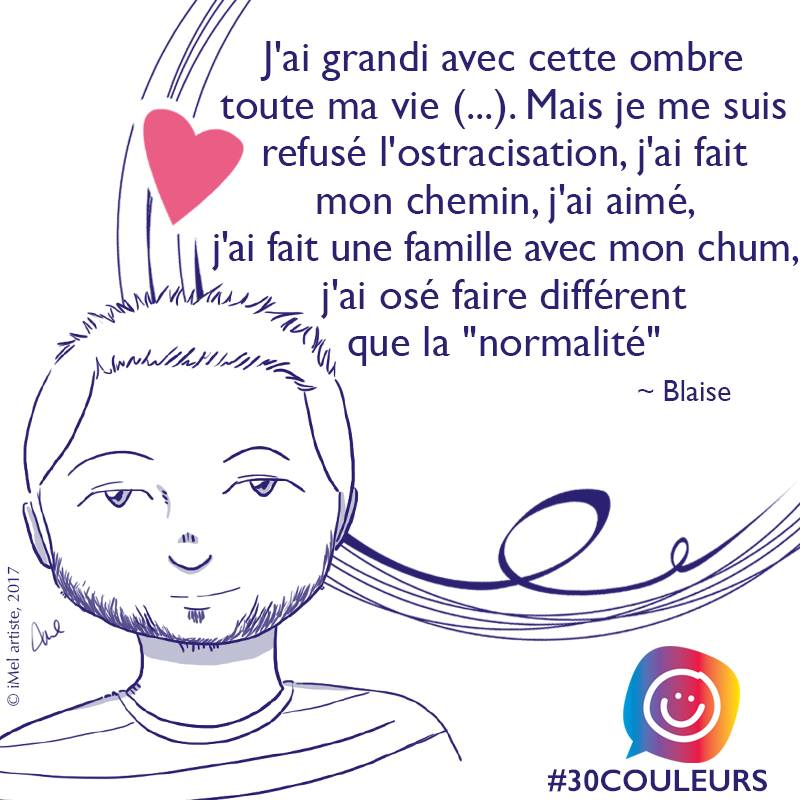 #30couleurs citation de Blaise