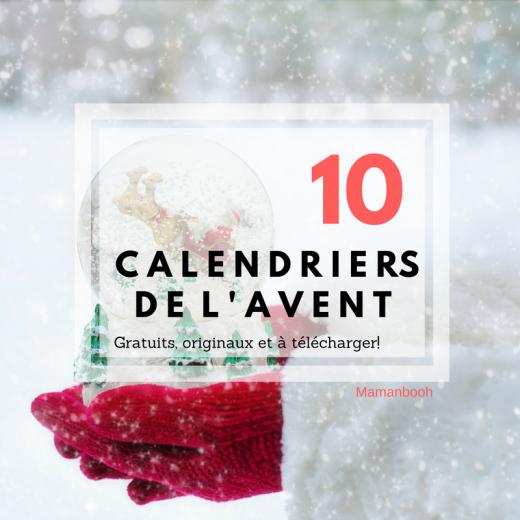 10 calendriers de l'avent