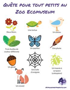 Quête pour tout petits au zoo -PDF gratuit à télécharger!