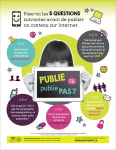 Publie, publie pas? Cinq questions à se poser avant de publier!