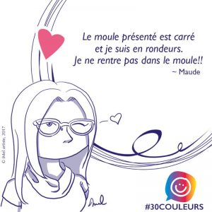 Maude Leblanc, participante et auteure des illustrations du projet #30couleurs