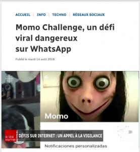 Momo Challenge, un défi viral dangereux sur WhatsApp