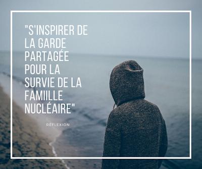 S'inspirer de la garde partagée pour la survie des familles nucléaires