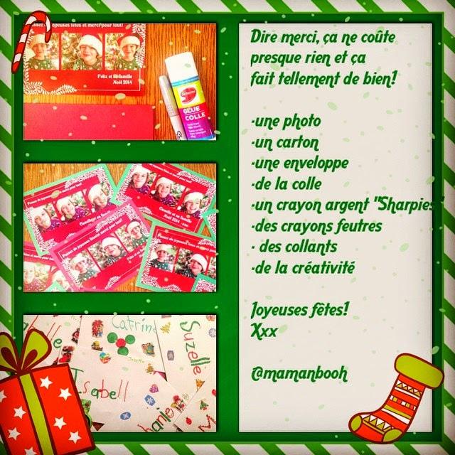 Dire Merci Avec Des Cartes De Noël Pour Trois Fois Rien