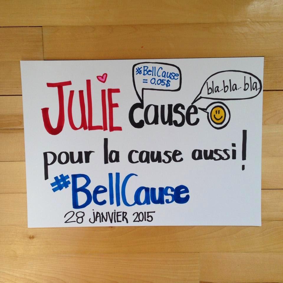 Julie cause  #BellCause Julie Philippon