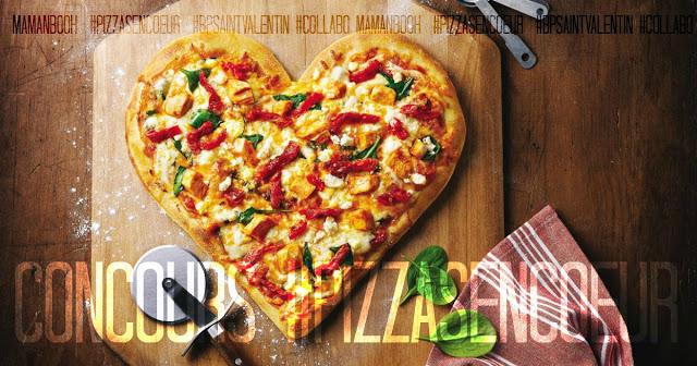 Une pizza en coeur pour une bonne action! #concours