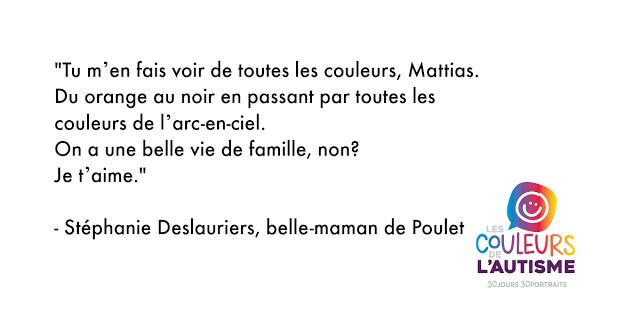 Autisme: la couleur de Poulet #30couleurs