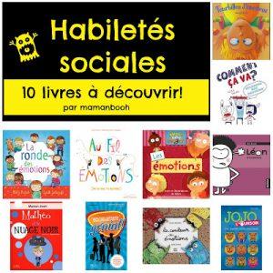 Habiletés sociales: 10 livres pour aider