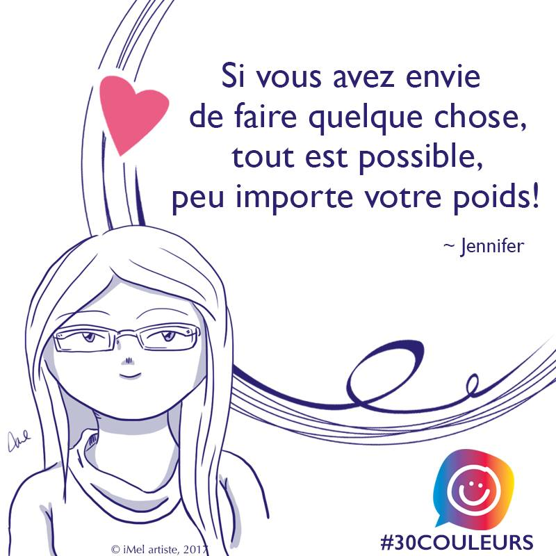 #30couleurs citation de Jennifer