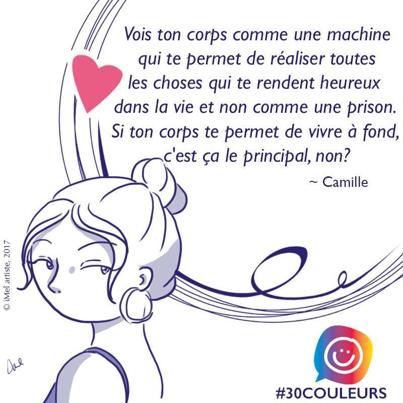 Diversité corporelle: l'histoire de Camille #30couleurs