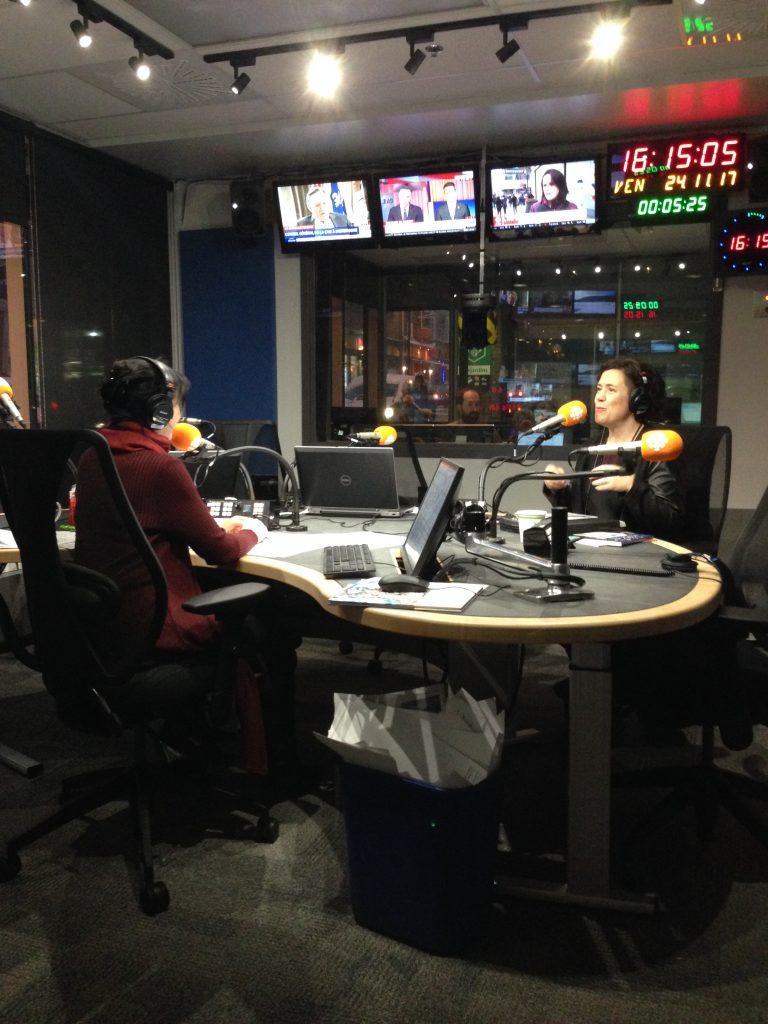 Entrevue à Radio-Canada