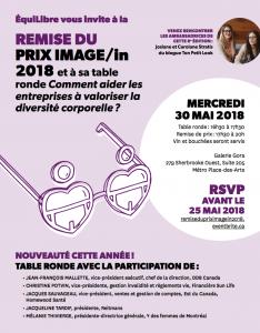 Invitation pour le Prix Image/In 2018