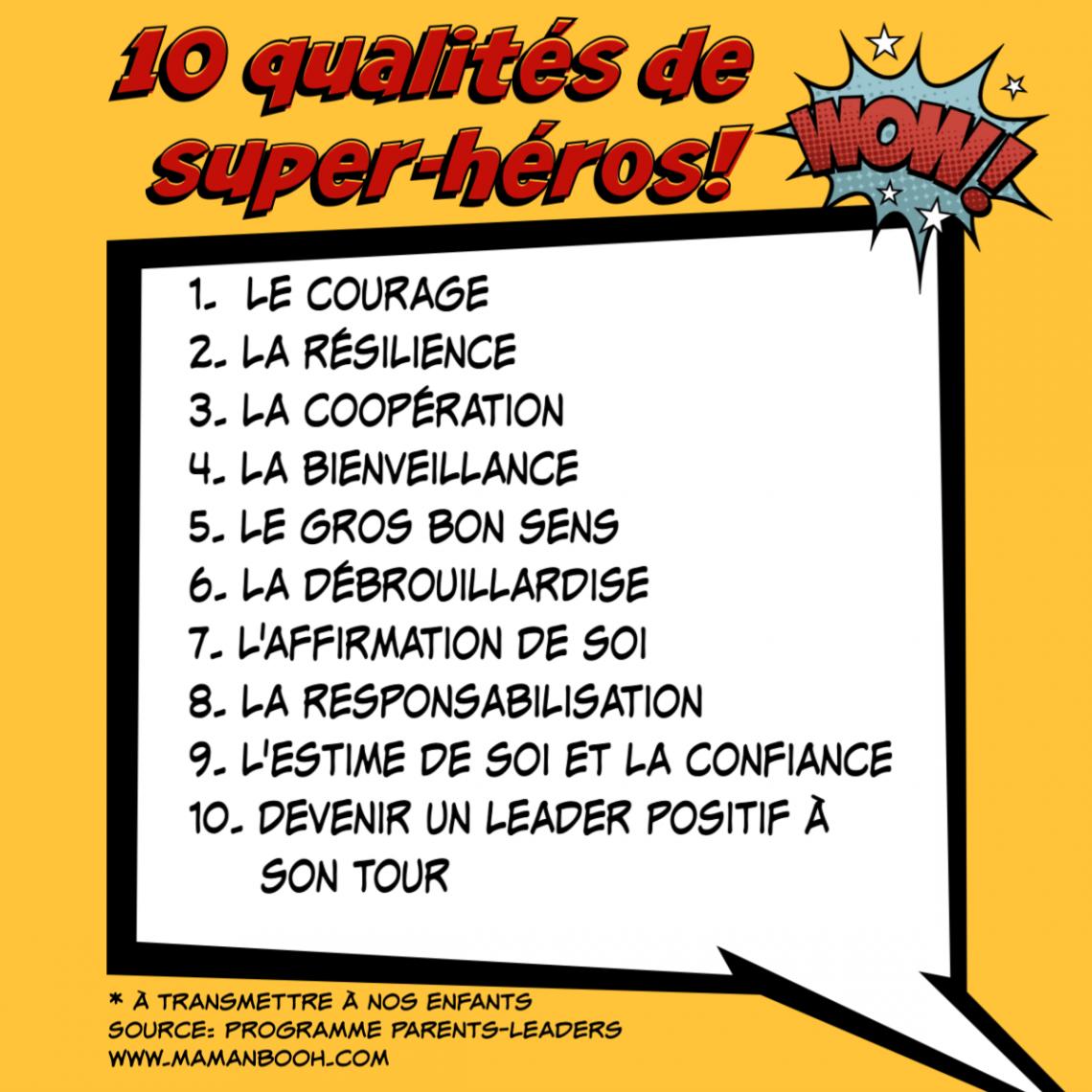 10 qualités super-héros